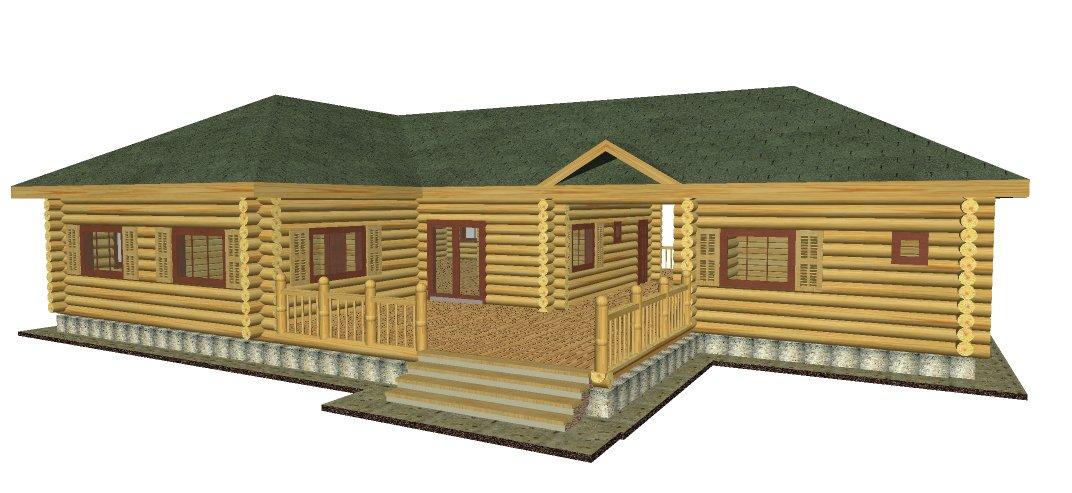 Новый проект одноэтажного дома - бани