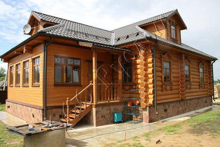 Сруб дома по проекту Судейкин 47