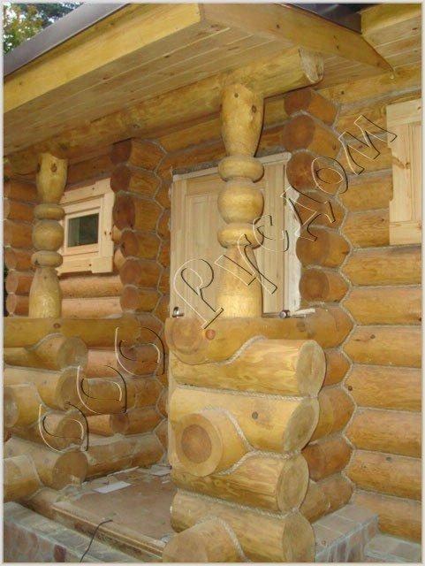 Входная группа в деревянном доме