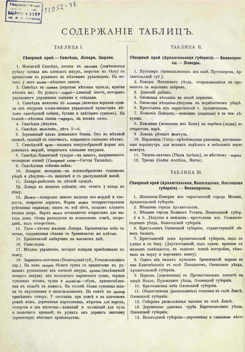 Русские народы - описания к Северному краю