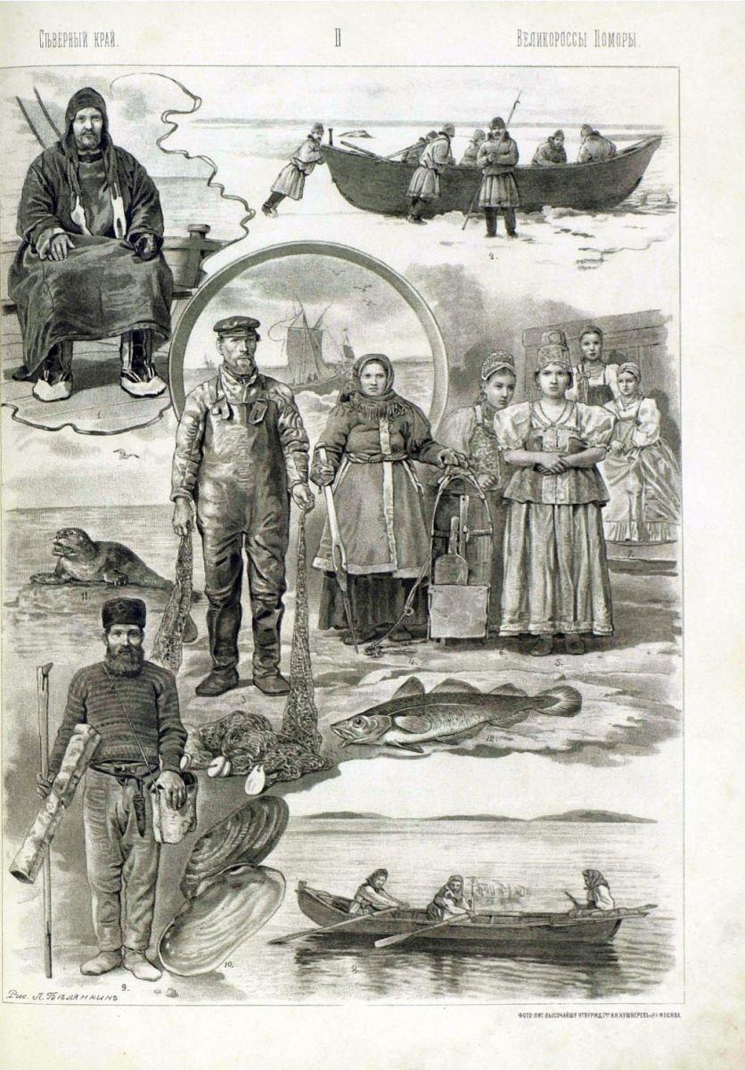 Русские народы: Архангельская губерния - Великороссы-Поморы