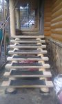 Лестница из плах