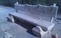Рубленая скамейка