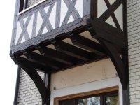 """Пристроенный балкон, технология """"фахверк"""""""