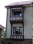 Декоративный эркер с эксплуатируемым балконом. Технология фахверк