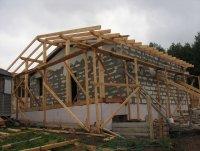 Крыша на пеноблочный домик