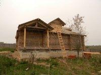 Фасад рубленого дома по старинному проекту архитектора Судейкина