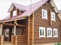 Деревянный загородный дом для постоянного проживания