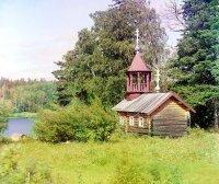 Рубленая церквушка, начало XX в. Фотография Прокудина-Горского
