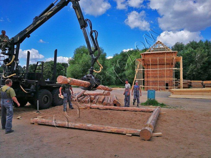 Деревянный острог в парке Коломеское