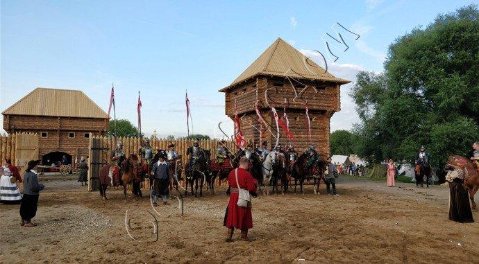 Пограничная битва около острога в парке Коломенское