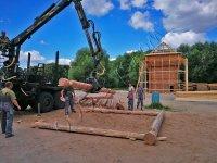 Рябинка - первый венец угловой башни острога